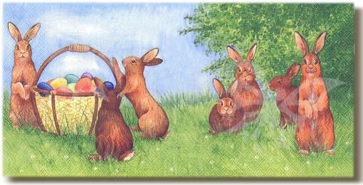 Tovagliolo coniglio pasquale